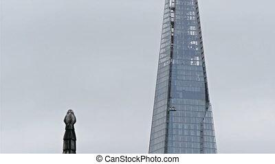 An underconstruction sky scraper in London. Still in the...