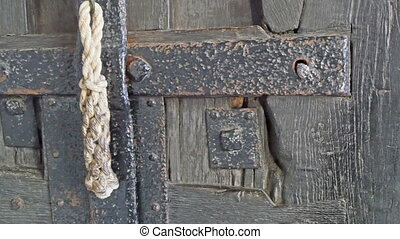 The metal steel from a huge door in Westminster Abbey The...