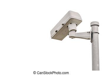CCTV, 隔離しなさい, カメラ, 背景, セキュリティー, 白