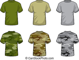 Camouflage Shirts - A variety of camouflage shirts.