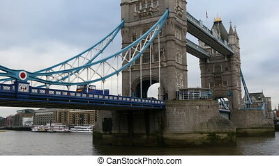 The London bridge and the urbanized city of London