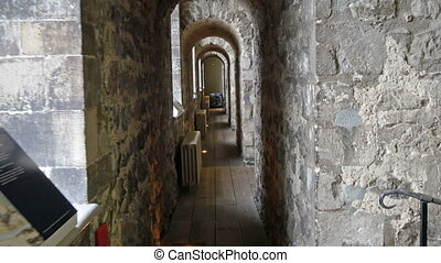 A tiny hallway inside the Tower of London