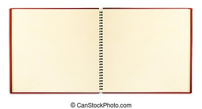 Blank notebook with ring binder isolated on white
