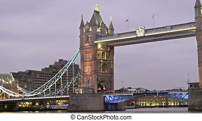 The beauty of the Tower Bridge with lights on Taken on late...