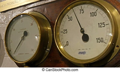 Temperature meters on the wall
