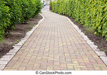 walkway - paved walkway