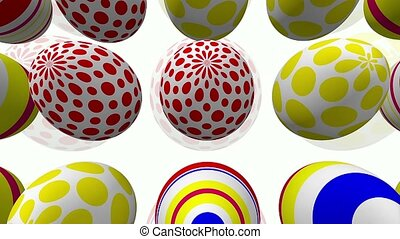Abstract Easter eggs on white background