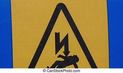 A Danger of Death sign seen in one of the buildings in...