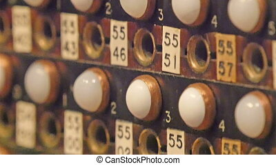 A classic kind of decoration with numbers. It has holes in...