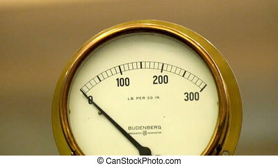 A weighing scale meter with hundreds in numbers that weighs...