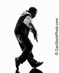 hip hop moonwalking break dancer breakdancing young man silhouet