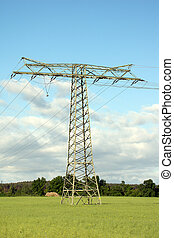 Energy - Power pole on a field