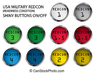 REDCON buttons