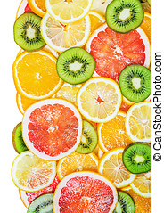 background fruit slices - background with citrus-fruit of...