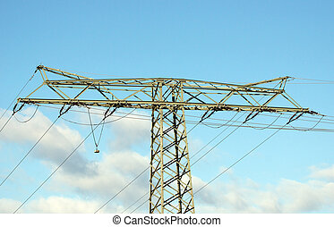 Energy - Power pole and blue sky