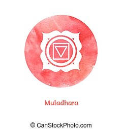 Muladhara chakra. Vector Illustration.