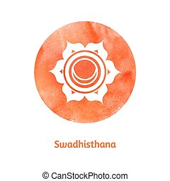 Swadhisthana chakra. Vector Illustration.