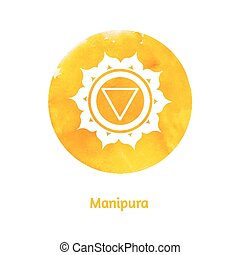 Manipura chakra. Vector Illustration.