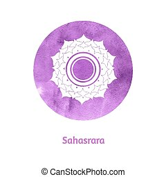 Sahasrara chakra. Vector Illustration.