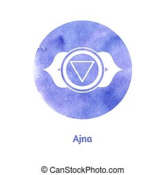 Ajna chakra. Vector Illustration.