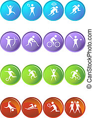 sport set round isolated on a white background.