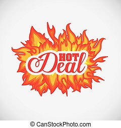 Hot deal design over white background, digitally generated...