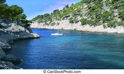 Calanques of Port Pin in Cassis France near Marseille