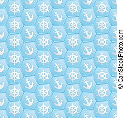 pattern - blue pattern seamless with nautical symbols