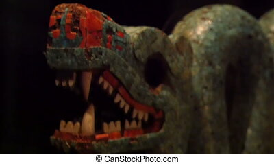 A snake marble scultpure one of Mayans sculptures. One of...