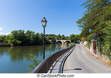 Garonne river at Saint-Martory in France