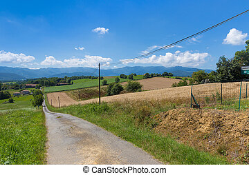 Backroad in Figarol in the south of France