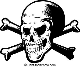 Skull and Crossbones - A skull and crossbones illustration.