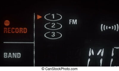 FM radio tuner that stops on a radio mode It is a black...