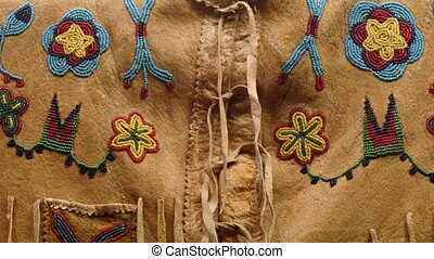 Details of the beads from the American Indian clothings....