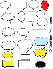 Word Bubbles - A variety of cartoon word bubbles