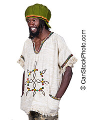 Rastafarian - portrait of rasta man with traditional clothes