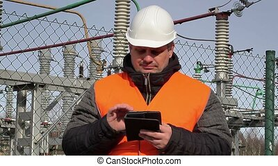Electrical engineer at power plant
