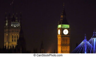 The Big Ben with lights taken at night The view of the place...