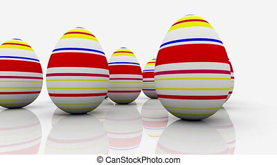 Abstract eggs on white background