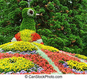 flower garden. Island Mainau, Bodensee Germany - flower...