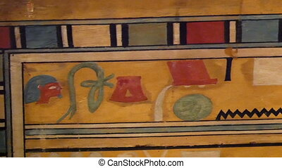 An egypt artwork from the ancient times. A colorful wall...
