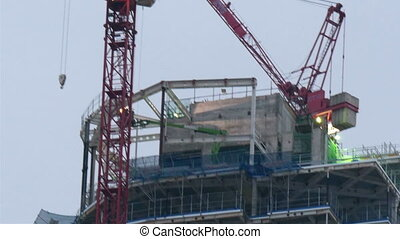 A newly constructed building in London Seen are the cranes...