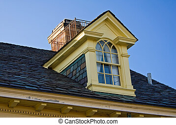 Upper Room - Dormer window of an old mansion