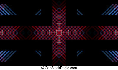 Multicolored stripes - symmetric red and blue stripes are...