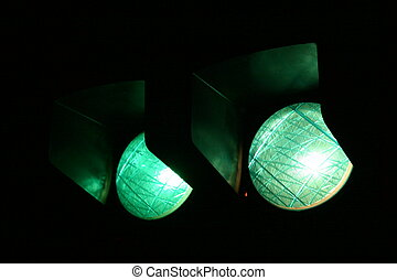 Street Lights Green