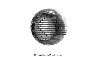 Disco ball with aplha channel - Rotating shining disco ball