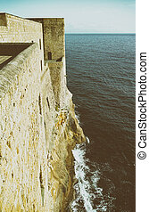 casel dell ovo - photo of castel dell ovo a old historical...