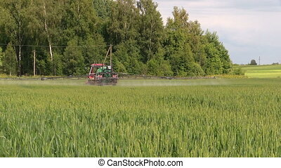 agriculture field spray - Farm tractor spray agriculture...