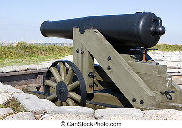 Civil War Cannon - Smoothbore muzzles-loading cannon used...