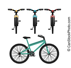 Mountain Bike design - Mountain bike design over white...